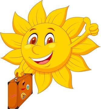 Sonne mit Koffer